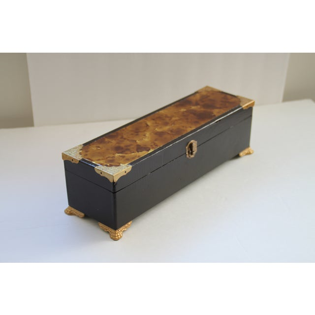 Image of Footed Wooden Box