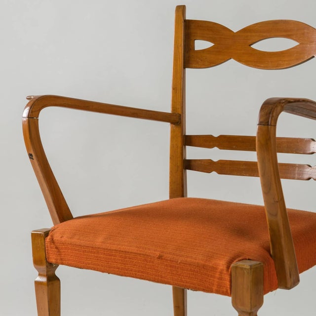 Armchair by Paolo Buffa by Marelli - Image 6 of 10