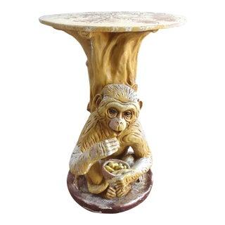 Vintage Outdoor Garden Monkey Table