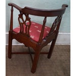 Image of Quality Mahogany Chippendale Corner Arm Chair