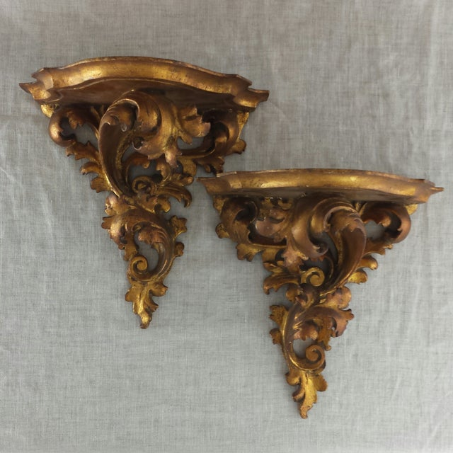 Italian Florentine Wall Sconces - A Pair - Image 2 of 9