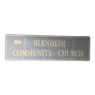 Vintage Metal Church Sign