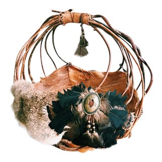 Vintage Native American Handmade Basket