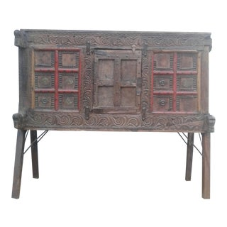 Antique Teak Wood Sideboard
