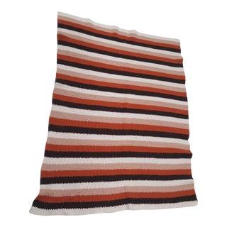 Vintage Handmade Multicolored Crocheted Afghan Throw Blanket