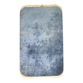 "Blue Chinese Deco Oval Rug - 4'10"" x 7'10"""