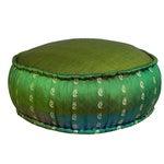 Image of Emerald Ikat Pouf