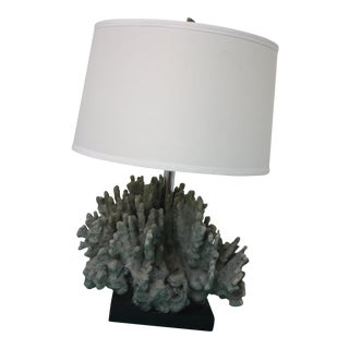Gray Coral Style Table Lamp