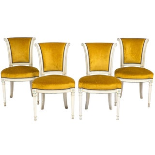 French Directoire Dining Side Chairs - Set of 4