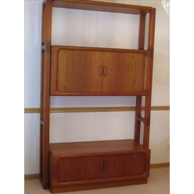 dyrlund mid century modern teak wall unit chairish. Black Bedroom Furniture Sets. Home Design Ideas