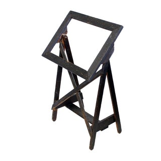 Black Wood Easel Display Stand