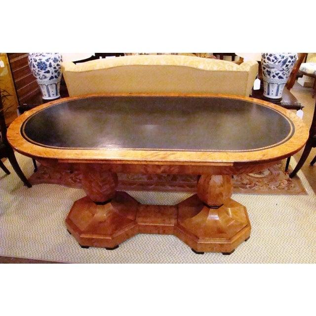 Image of Biedermeier Birchwood Center Table