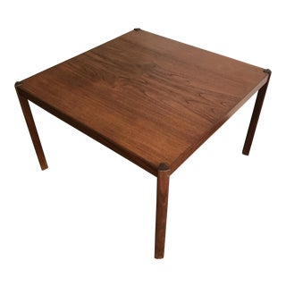 Hans Olsen Danish Teak Square Side Table