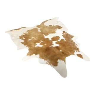 Palomino and White Cowhide Rug