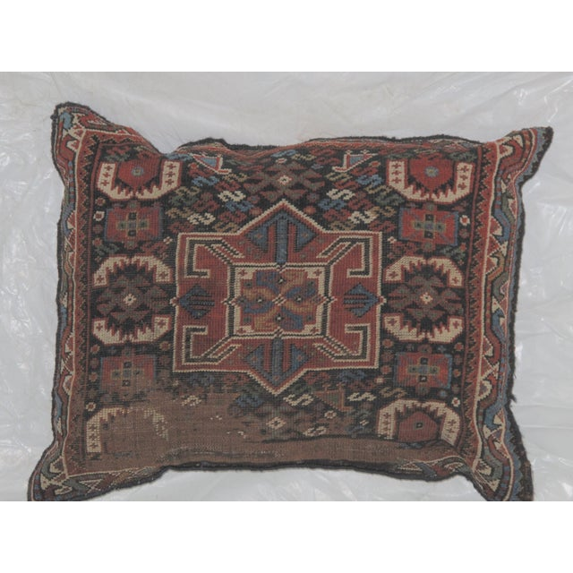 Leon Banilivi Pillow, Antique Persian Rug Fragment - Image 3 of 4