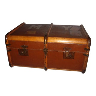 Brown Vintage English Trunk