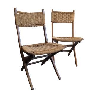 Hans Wegner Style Yugoslavian Chairs - Pair