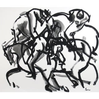 Polo III Framed Painting by Heidi Lanino
