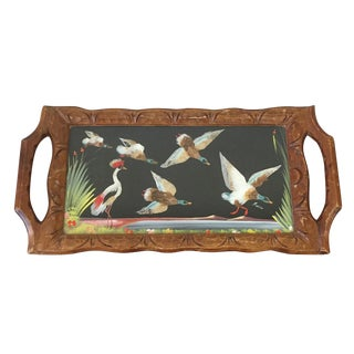 Vintage Hand Painted Mexican Bird Tray