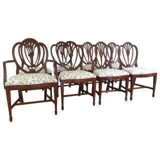 Drexel Mahogany Heart Back Dining Chairs - S/8