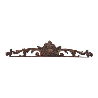 French Carved Wood Ornamentation (over door)