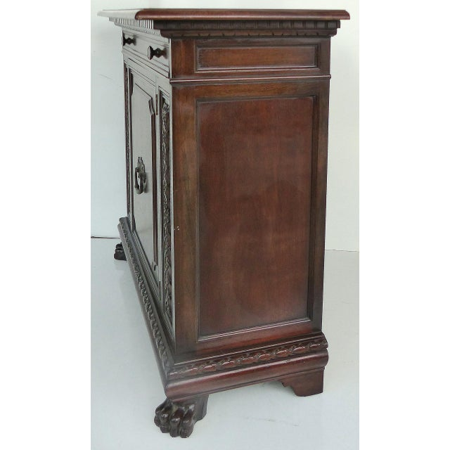 1930 S. Pagano Carved Lion Paw Cabinet - Image 5 of 10