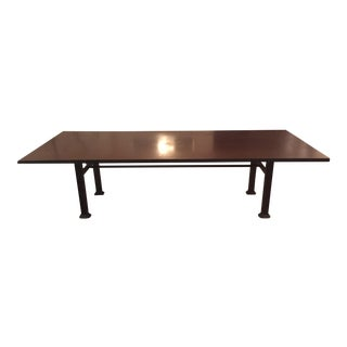Industrial Steel & Cast Iron Dining Table