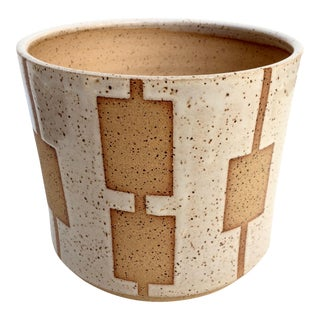 BKB Ceramics Mid-Century Geometric Planter