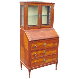 Parquetry Inlaid Secretary Desk
