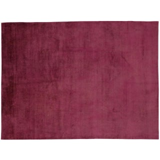 Modern Contemporary Rug in Raspberry Color With Transitional Style - 7′8″ × 10′2