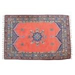 "Image of Vintage Red & Blue Moroccan Rug - 6'8"" X 9'6"""