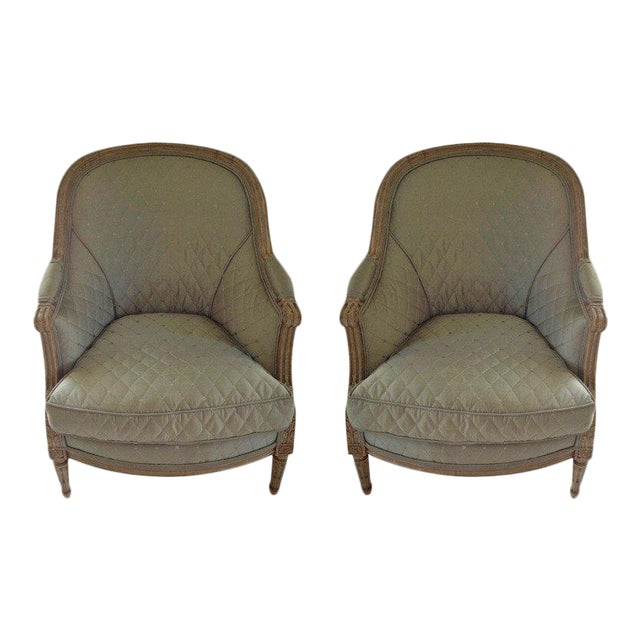 Pair of 19th Century French Bergeres - Image 1 of 8