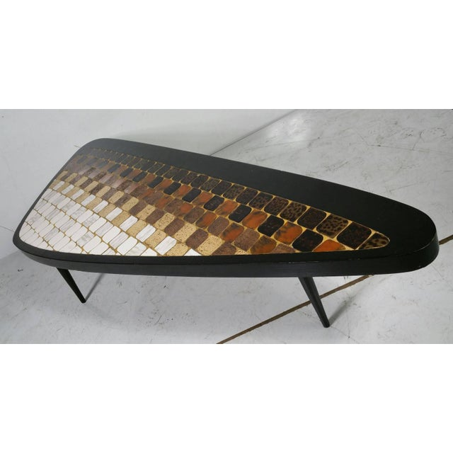 "Richard Hohenberg ""Guitar Pick"" Tile Coffee Table - Image 2 of 7"