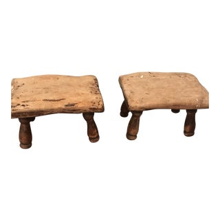 Farmhouse Footstools - A Pair