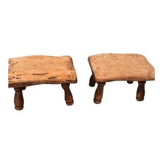 Farmhouse Footstools - A Pair