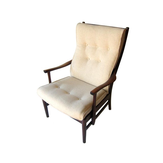 Image of Danish Wool Arm Chair