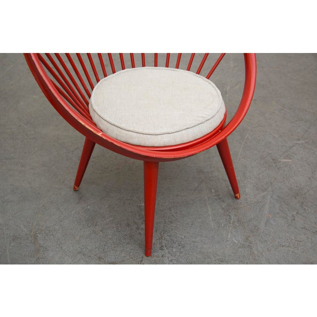 Swedish Red Hoop Lounge Chair - Image 8 of 11