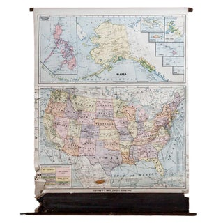 Vintage Cram's Pull Down Map of the United States