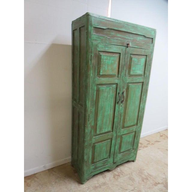 Antique Primitive Wardrobe Cupboard - Image 3 of 6