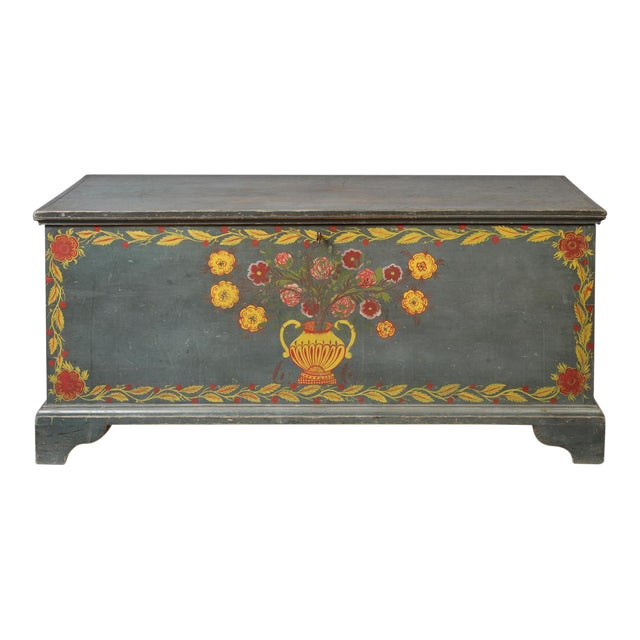 Paint Decorated Blanket Chest - Image 1 of 3