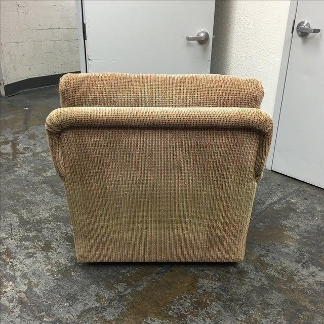 J.F. Fitzgerald Tweed Chair & Ottoman - Image 5 of 6