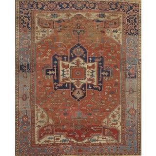 "Pasargad N Y Persian Serapi Antique Handmade Hand-Spun Wool Rug - 10' X 12'1"""
