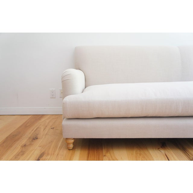 Custom Roll Arm Sofa With Modern Lines - Image 6 of 11