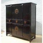 Image of Antique Chinese Black Cabinet