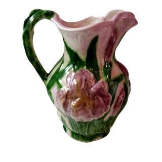 Hand Made Majolica Pitcher