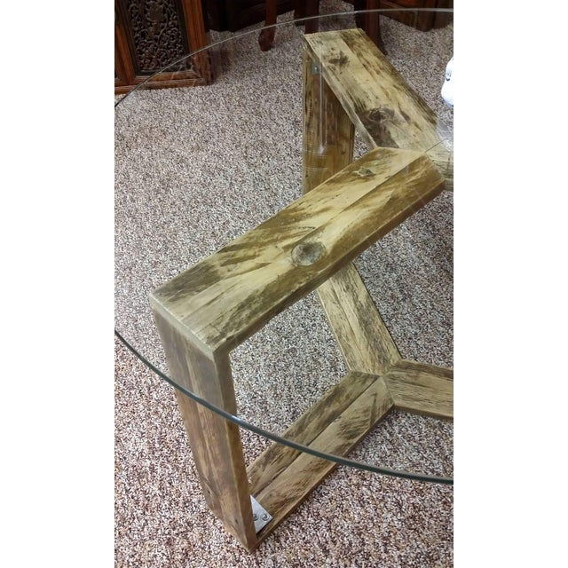 Custom Pallet Wood Side Table - Image 4 of 9