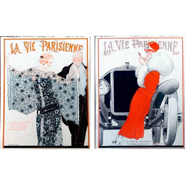 1922 La Vie Parisienne Cover Prints - a Pair - Image 1 of 9