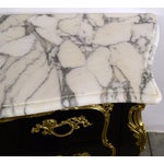 Image of Ebonized Louis XV-Style Marble Top Dresser
