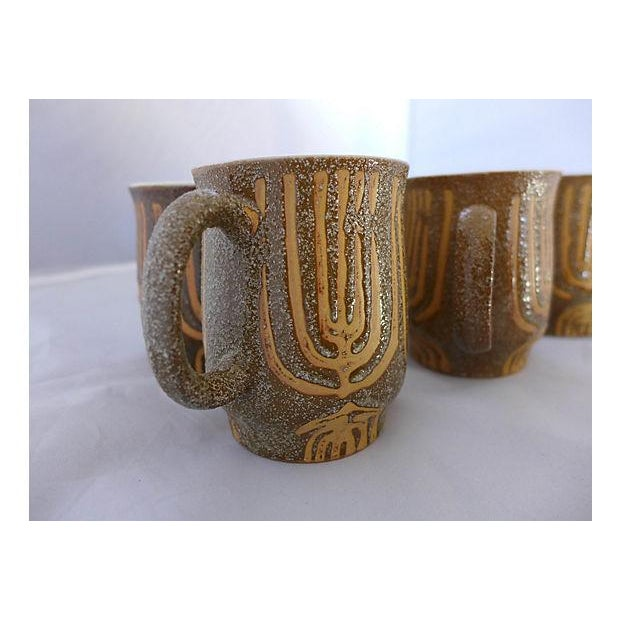 Mid-Century Rustic Coffee Mugs - Set of 4 - Image 6 of 6