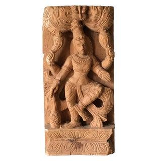 Vintage Hindu Deity Shiva Nataraja Wood Carving Sculpture